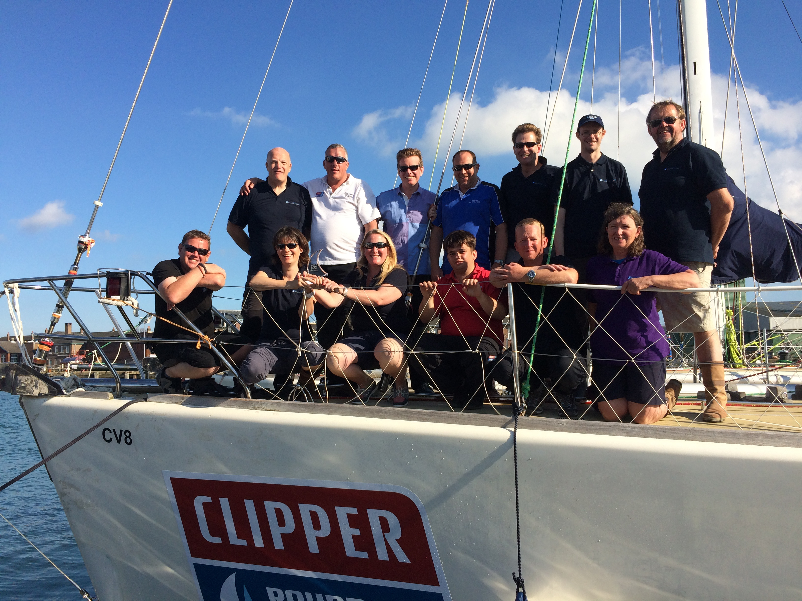 Clipper Race Yacht Club paints Solent red with annual regatta