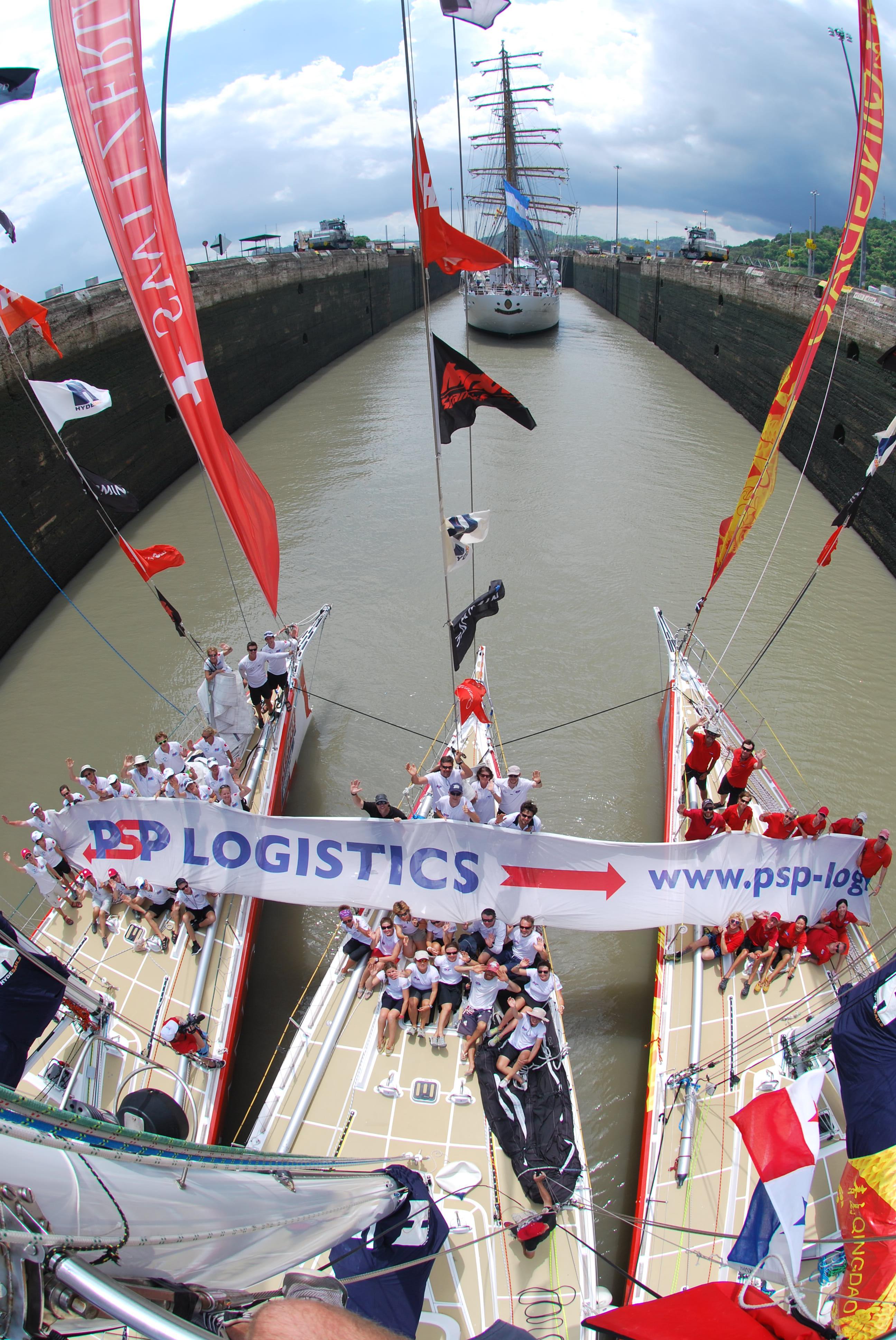 British Logistics Company Flying Flag Through Panama Canal