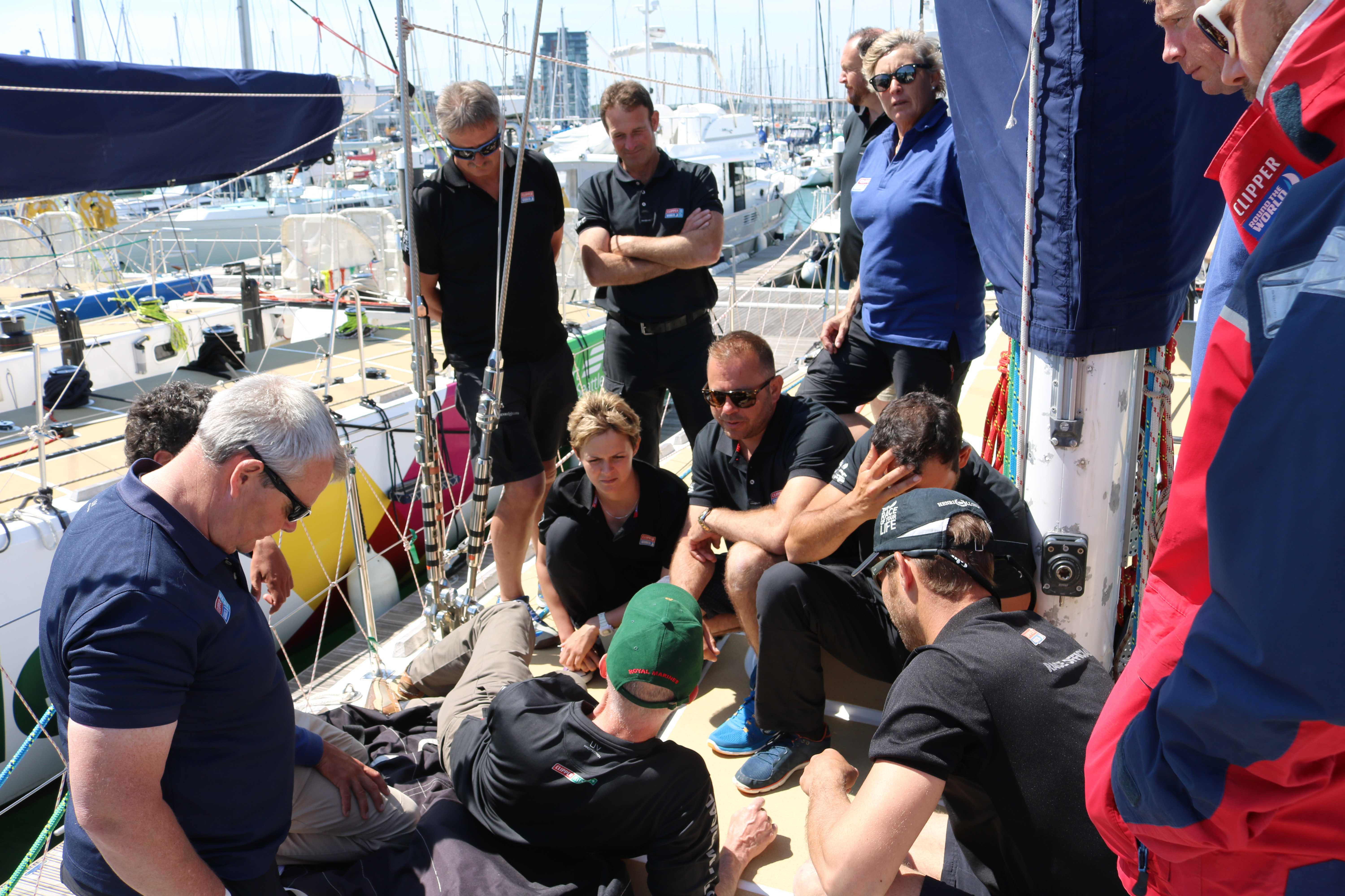 Clipper Race Skippers during ClipperTelemed+ Training