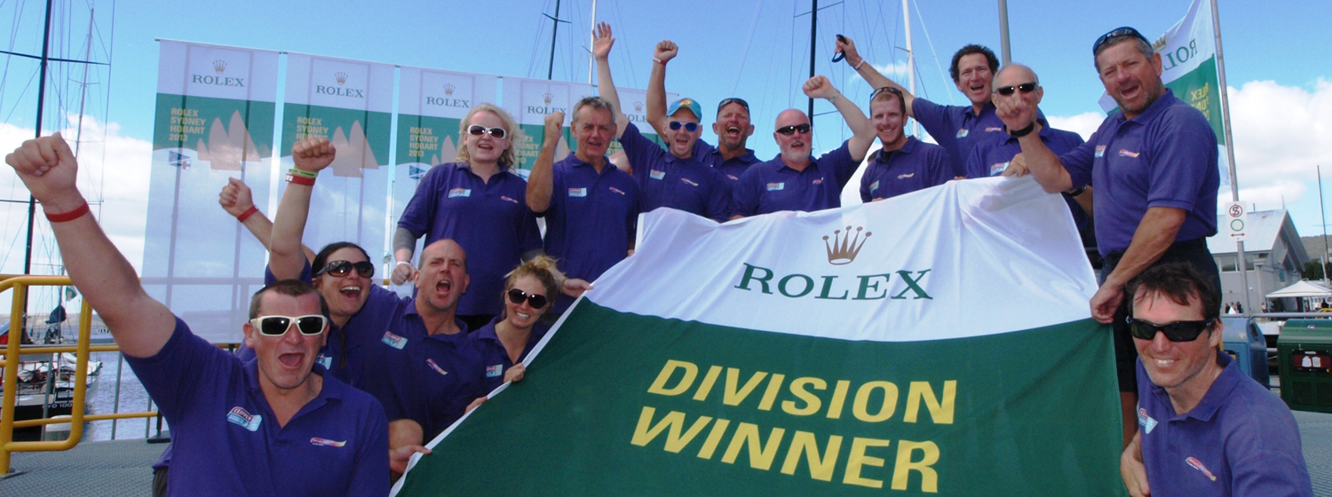 Derry~Londonderry~Doire crew celebrating in Hobart