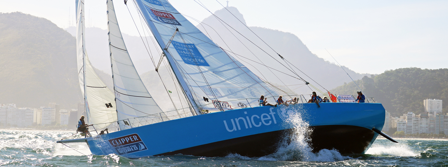Unicef team entry in the Clipper 2015-16 Race