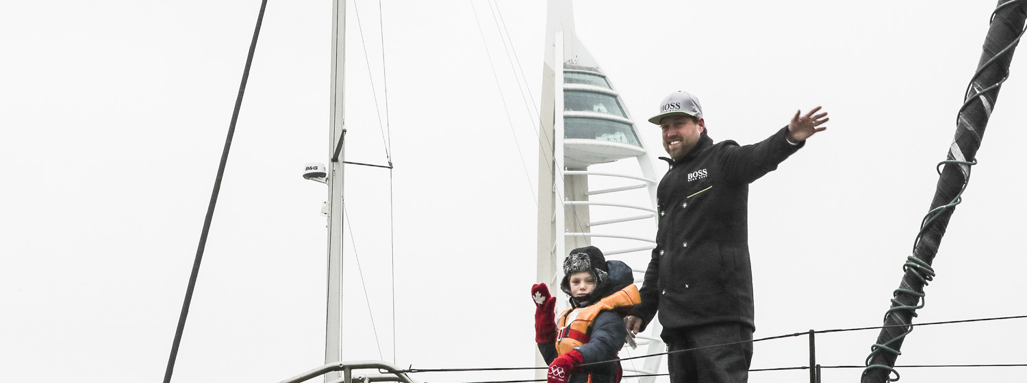 Alex Thomson on HUGO BOSS - Image credit Mark Lloyd