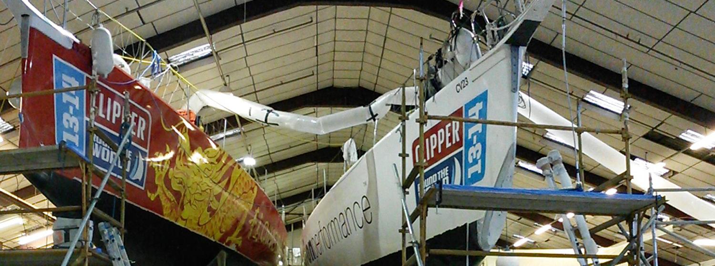 Clipper 70s undergo refit in Hamble