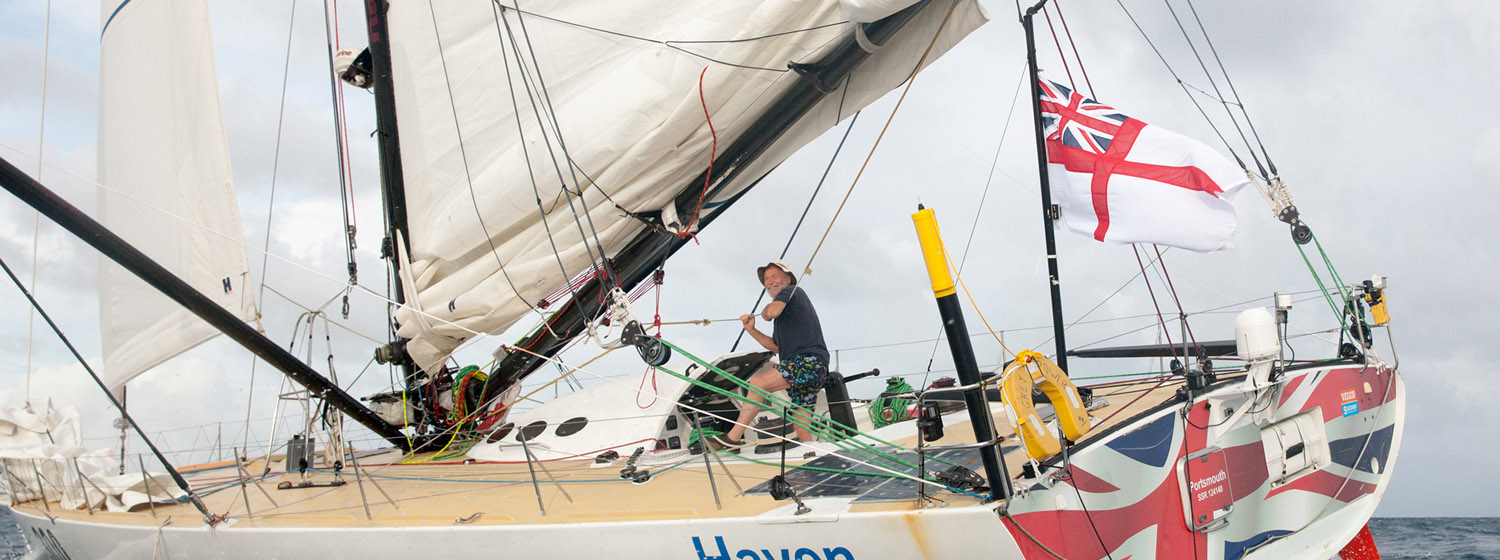 Challenging conditions for Sir Robin in The Transatlantic Race
