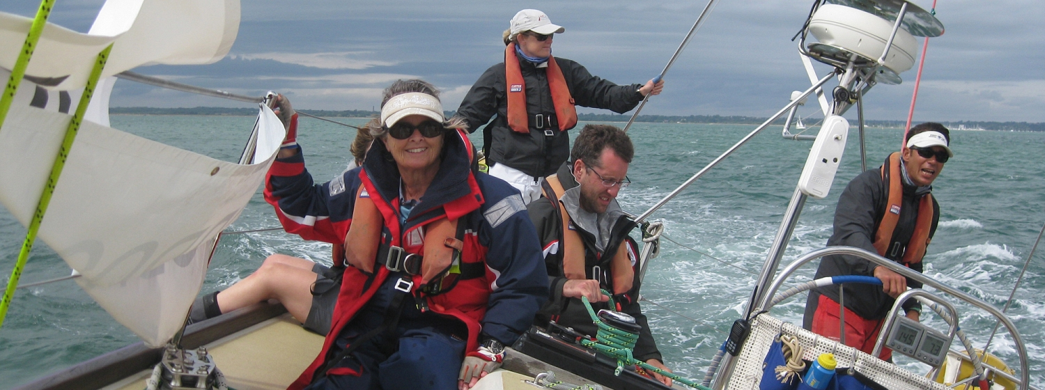 Susanna Hetherton during training for the Clipper 2015-16 Race