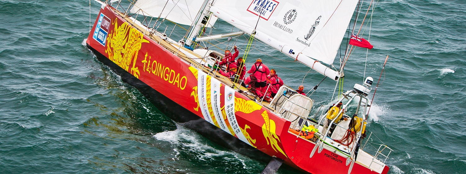 """Qingdao"" during the Clipper 2015-16 Race"