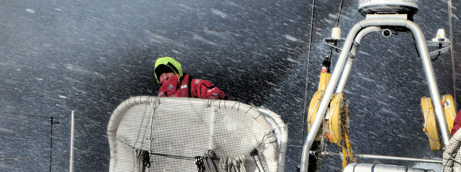 Action on board the Clipper Race