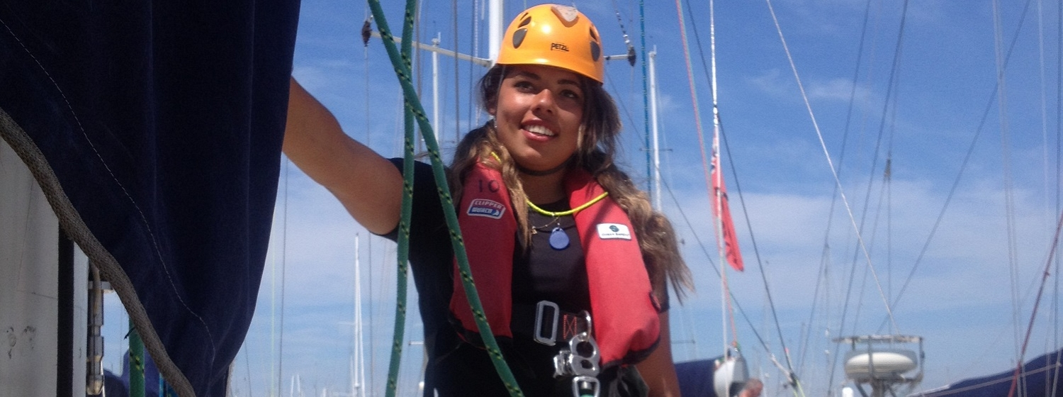 Ana will sail around the world in the Clipper 2015-16 Race