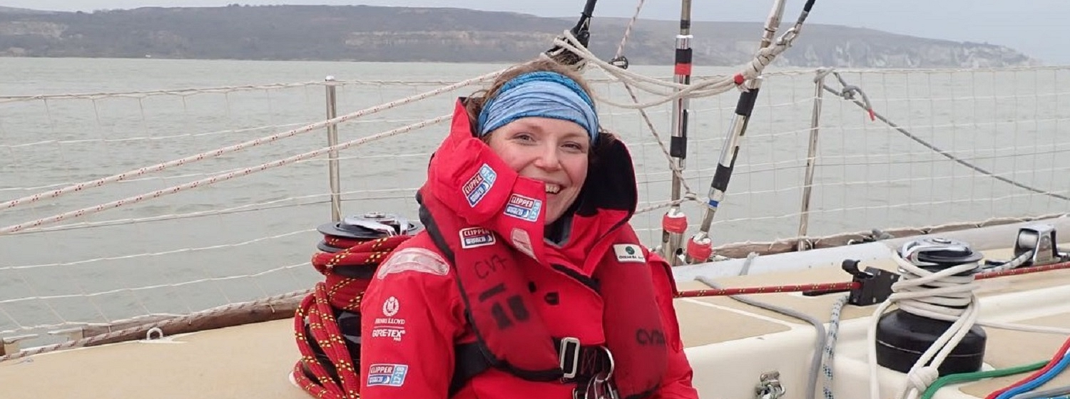 Annie Neeson on board Level 4 Training session