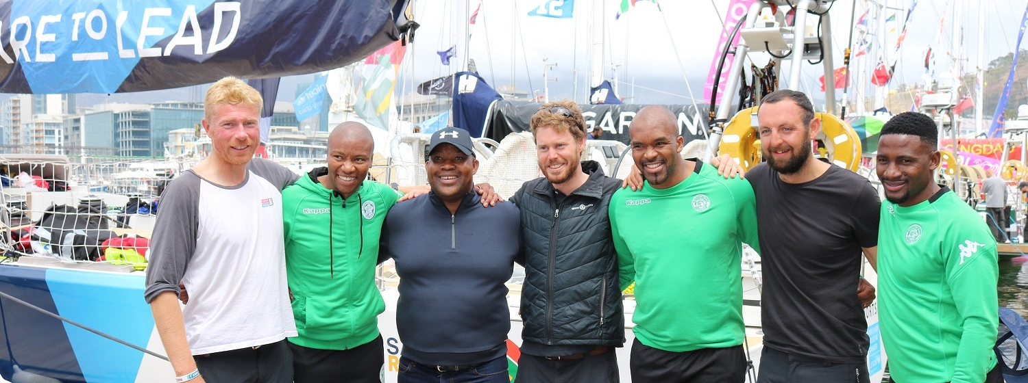 Bloemfontein Celtic FC team with Clipper Race Skippers