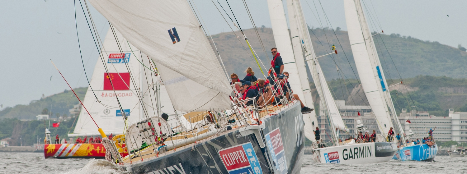 Old Pulteney leads Clipper Race fleet out of Rio de Janeiro