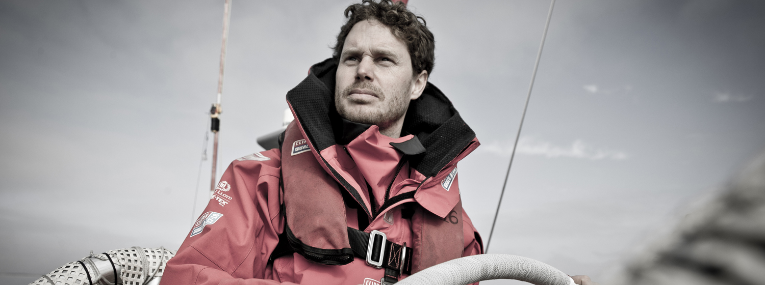 Conall Morrison on board a Clipper 70
