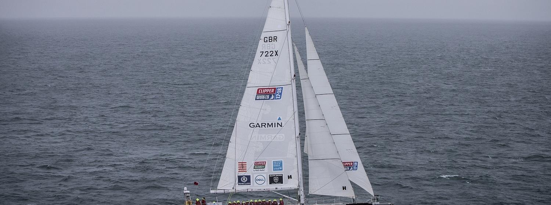 Garmin yacht at sea