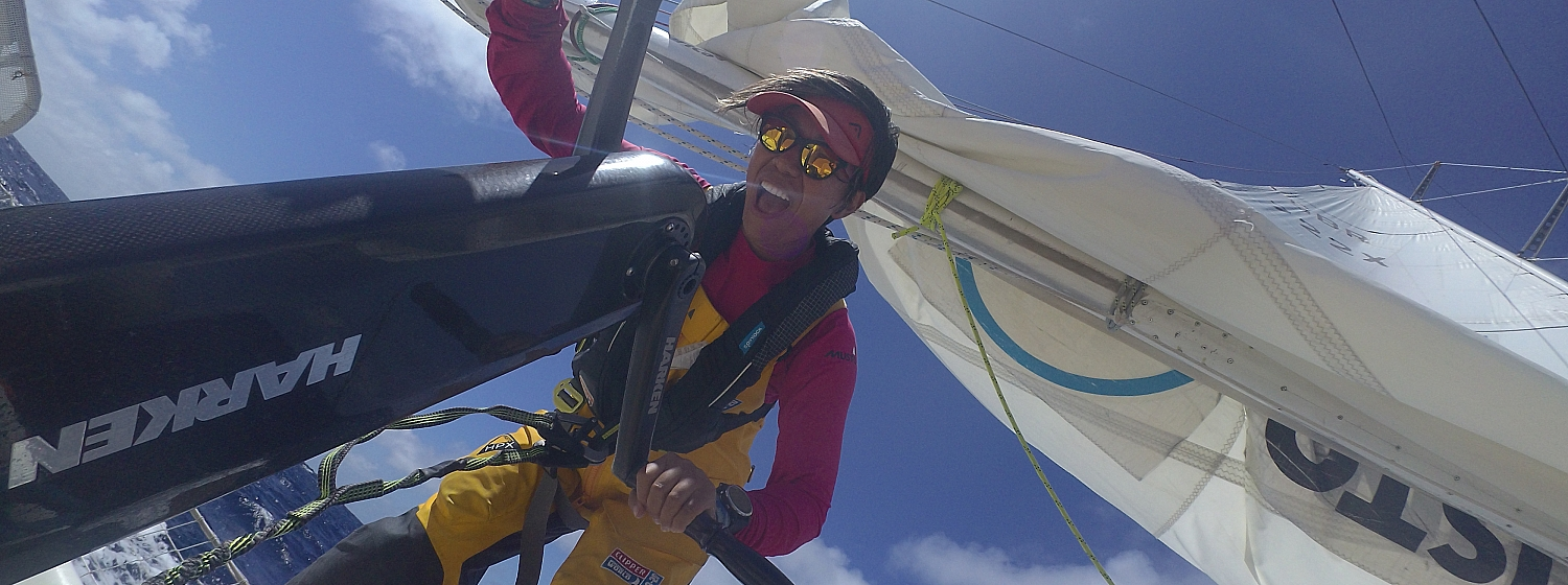 Queenie Wang hadn't sailed before signing up to the Clipper Race