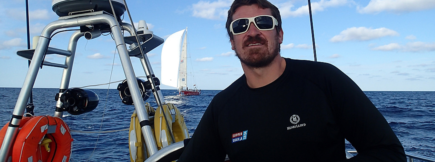 Conor O'Byrne on board the Clipper Race