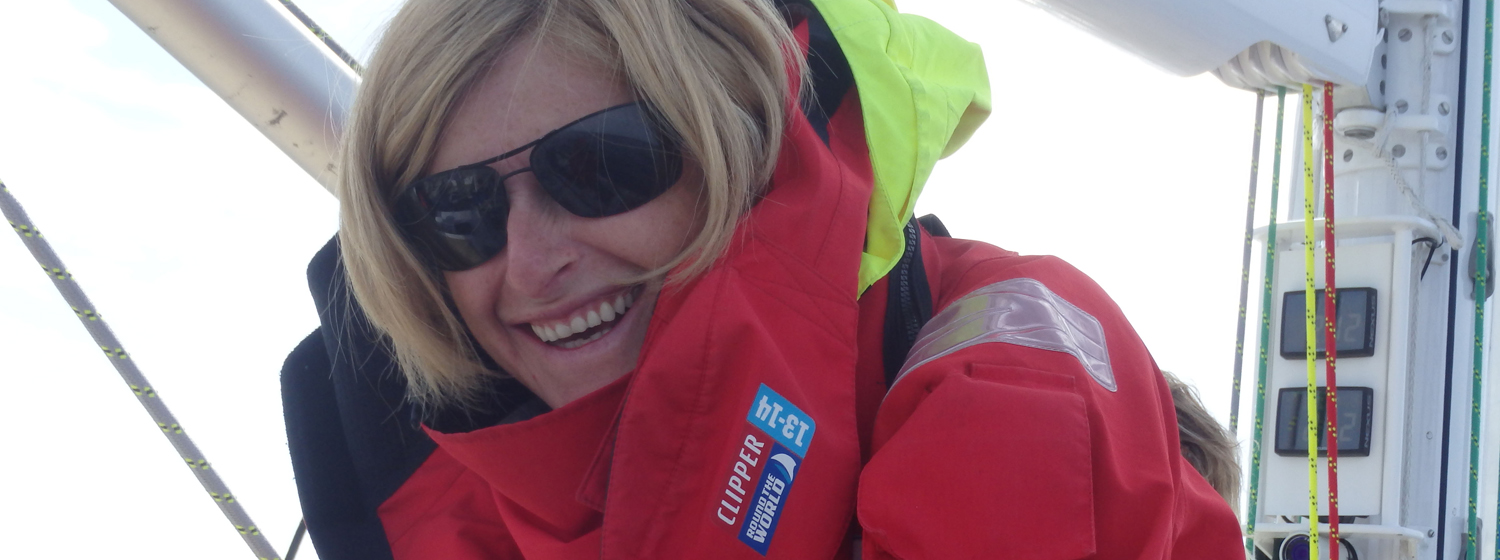 Caroline Marrows on board the Clipper Race