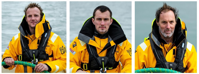 Clipper Race Skippers: Chris Brooks, Seumas Kellock and Nick Leggat