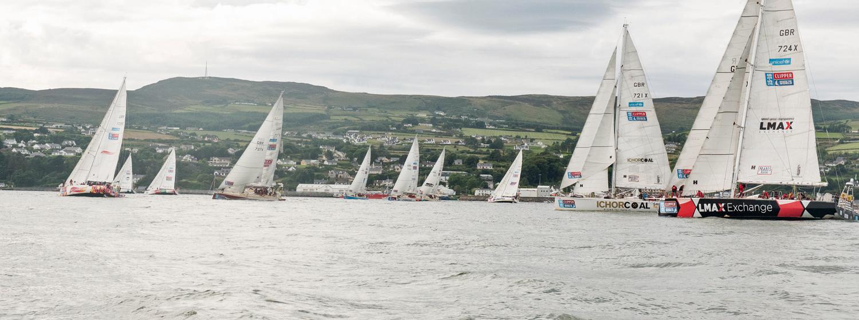 Clipper Race fleet in Greencastle