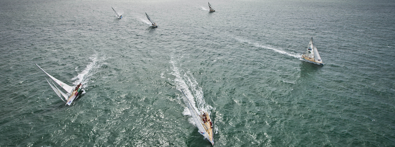 The Clipper Race yachts