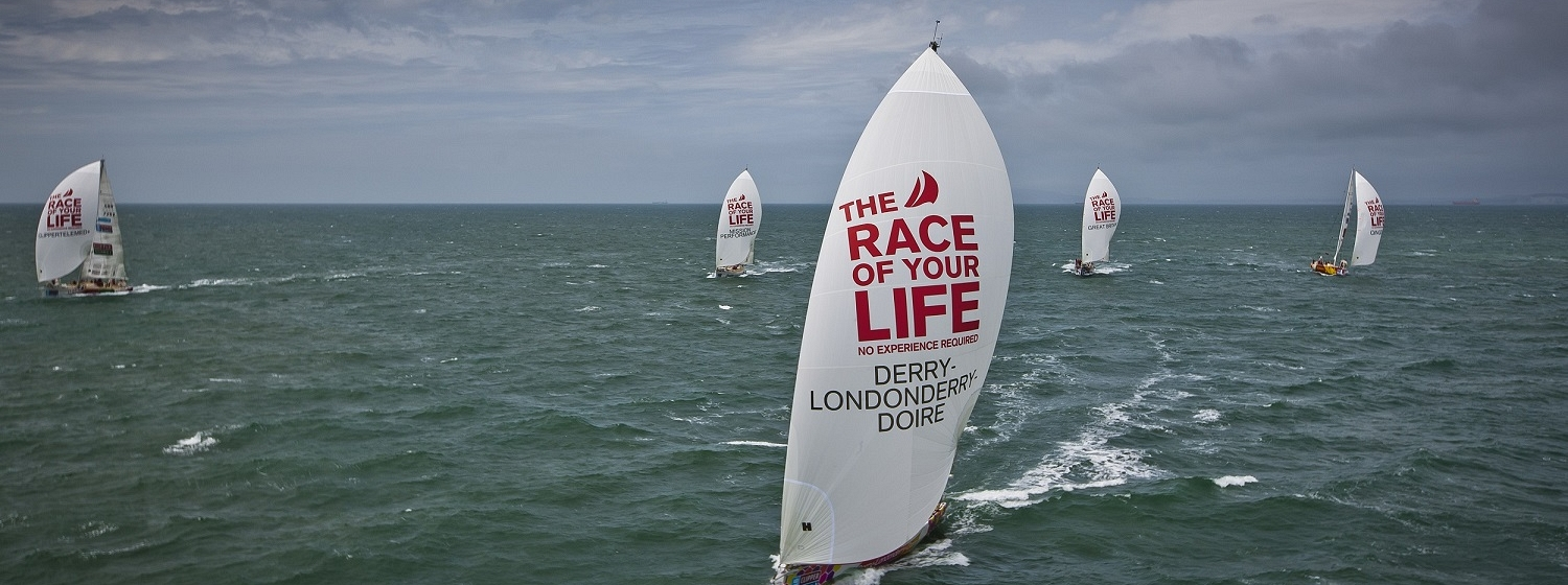 The Clipper Race fleet at sea in the last edition