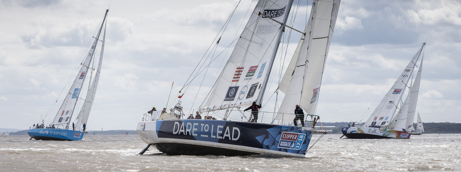 Clipper 2017-18 Race start on the River Mersey