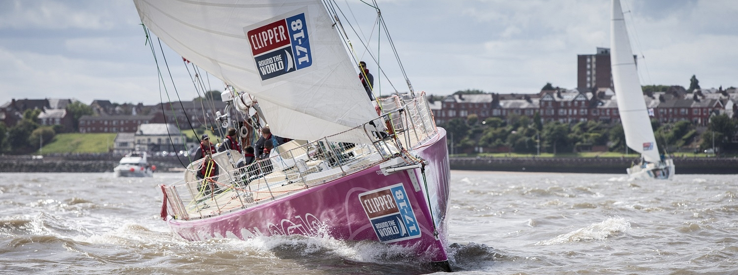 Liverpool 2018 yacht at Race Start