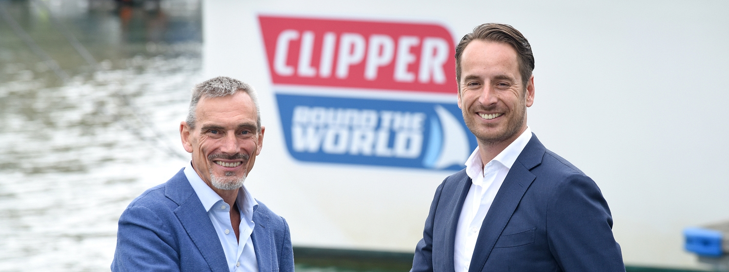 Clipper Round the World Yacht Race CEO, William Ward and ATPI Global Commercial Head of Sports, Michiel Aulbers