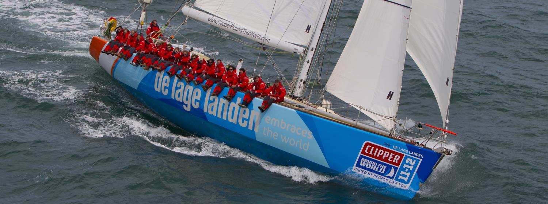 Clipper 68-foot ocean racing yacht