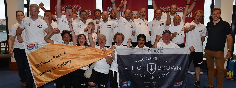Race 4: Elliot Brown Timekeeper Cup prizes awarded