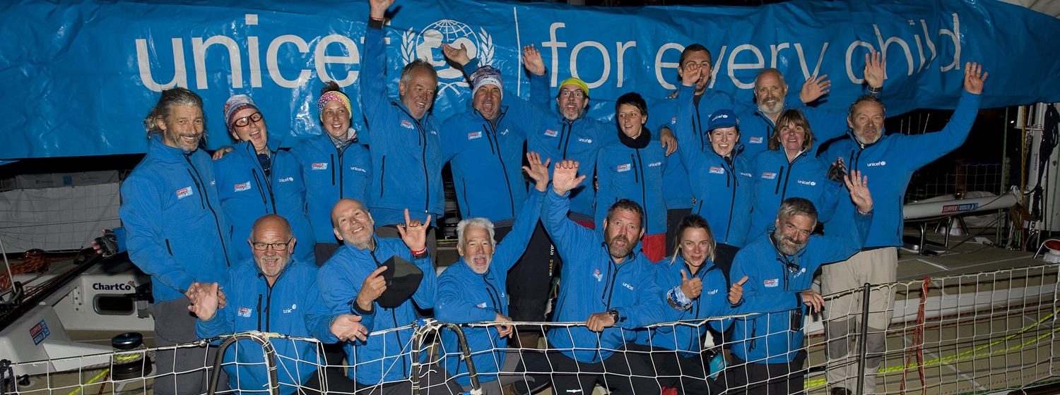 UNICEF ARRIVES INTO CAPE TOWN AFTER CHALLENGING RACE