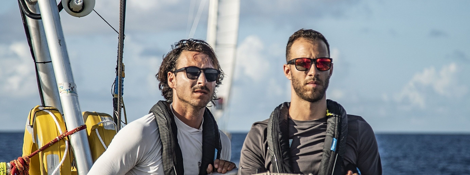 Looking into the distance as the crew sail through the Doldrums Corridor