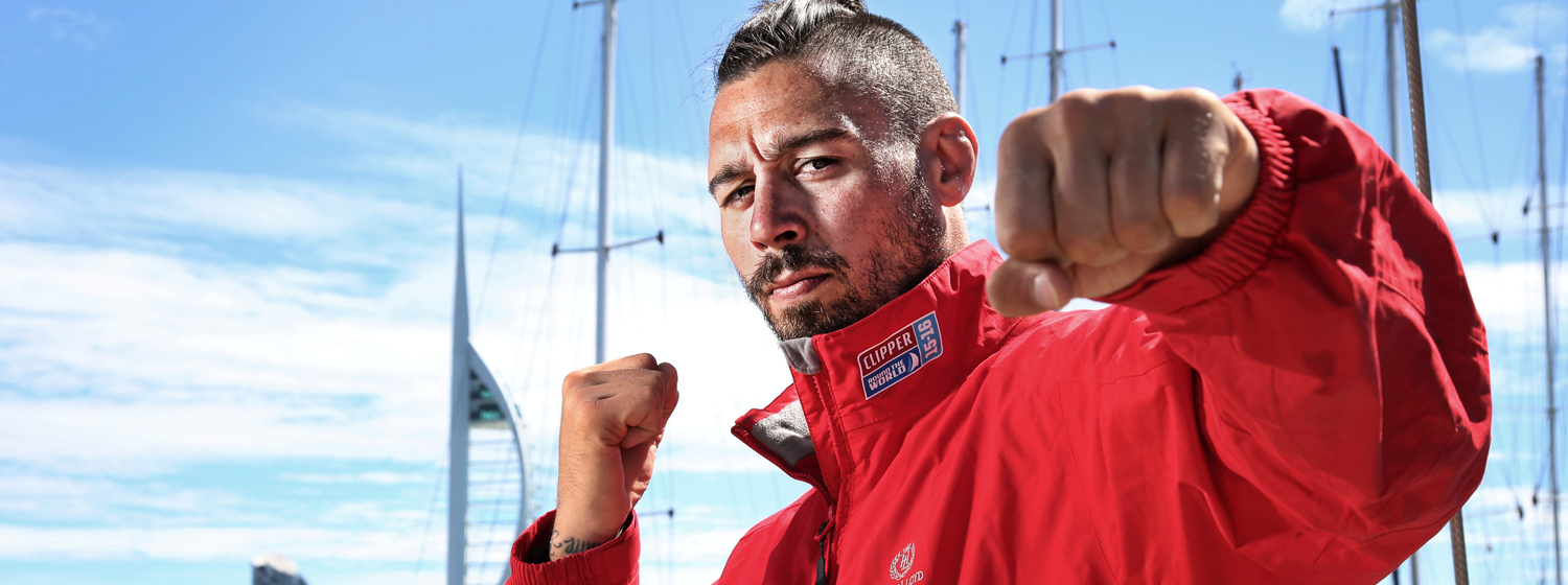 Former UFC athlete and Clipper 2015-16 Race crew member Dan Hardy