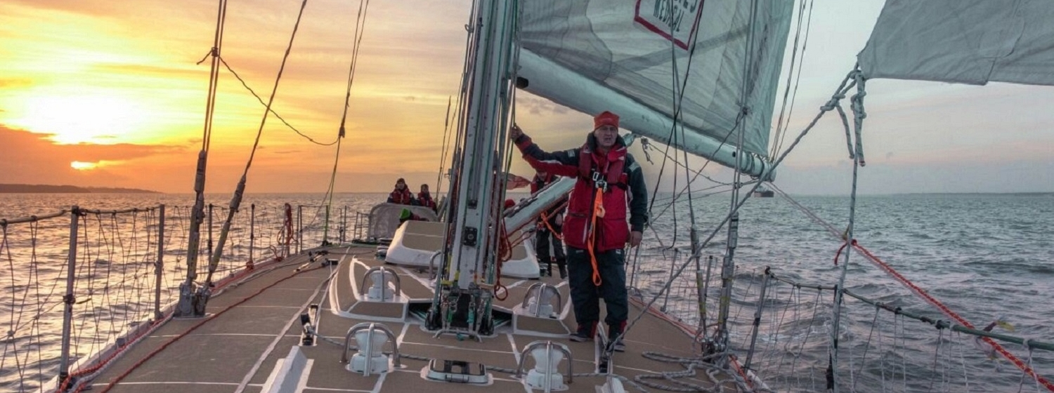 Race Crew member, David Smith, on a Clipper 70 yacht