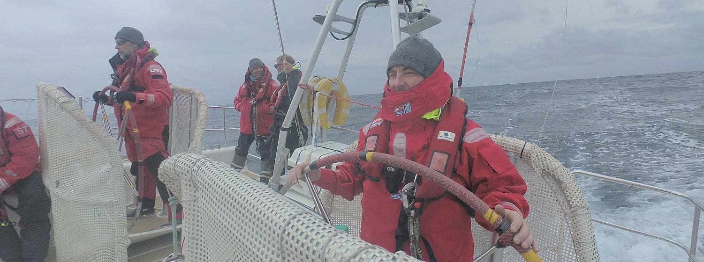 Crew helming on board PSP Logistics