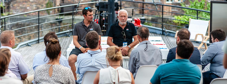 Sir Robin Knox-Johnston and Clipper 2019-20 Race Skipper Seumas