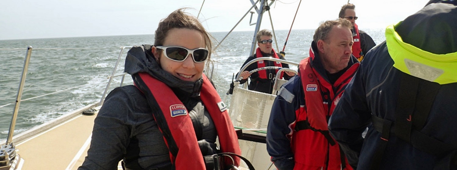 Emily during Clipper Race training