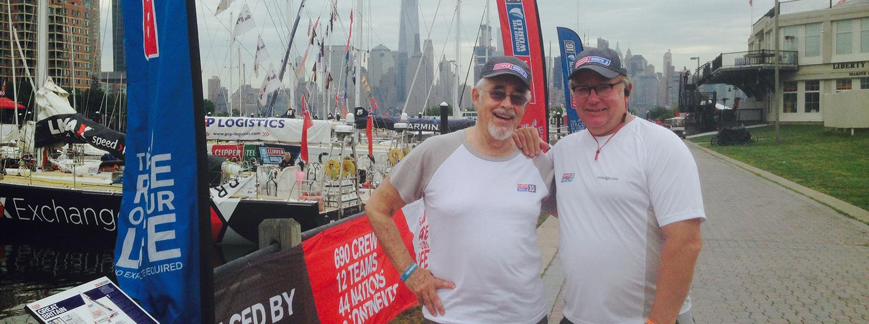 Local Alumni crew welcome teams in New York