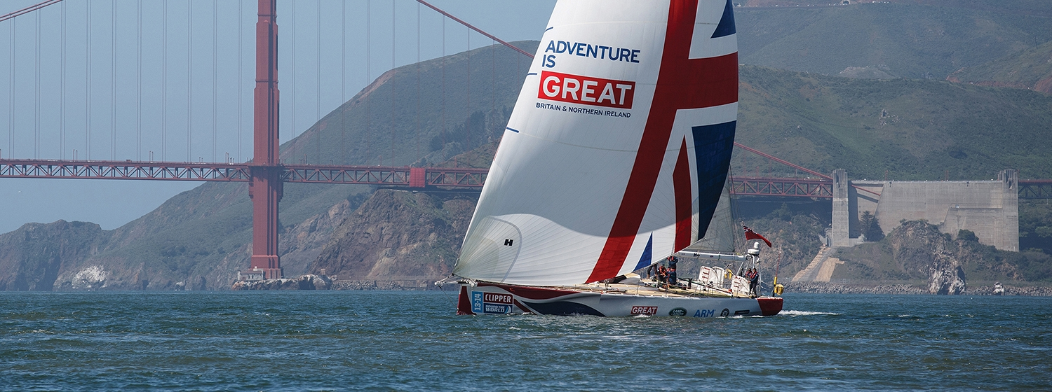 GREAT Britain yacht under spinnaker in San Fransisco