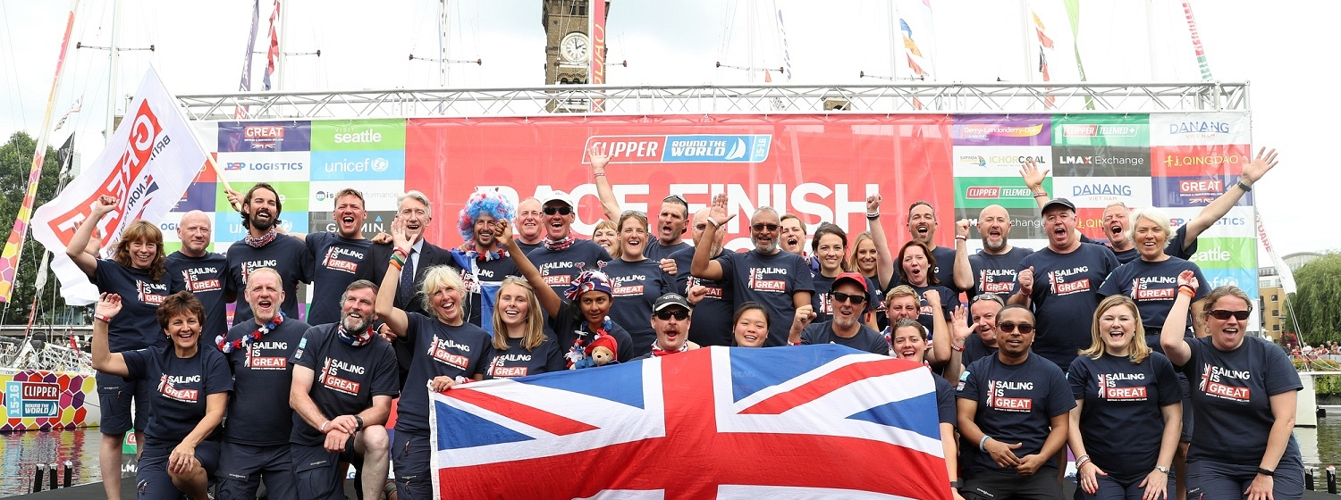 The GREAT Britain team pictured at Race Finish