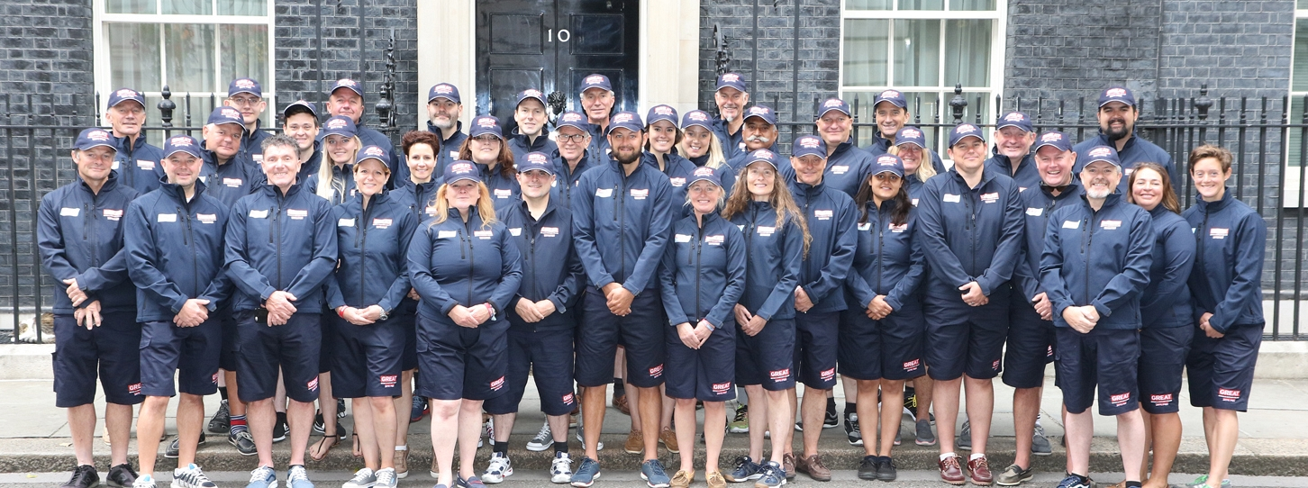 GREAT Britain Team outside 10 Downing Street