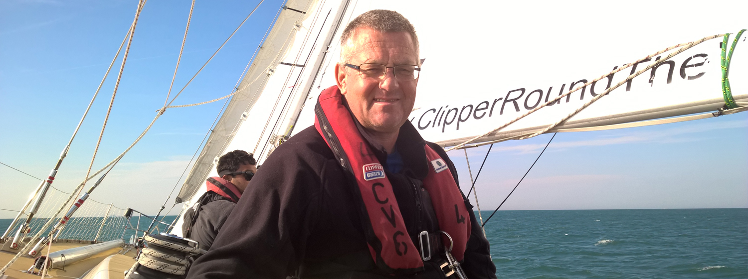Gareth Osborn on board Clipper Race Training