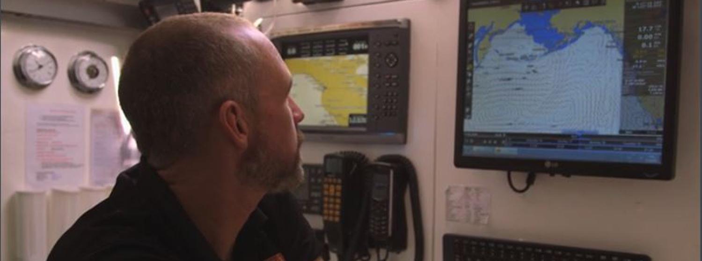 Skipper Greg Miller using TIMEZERO software during Clipper 2015-16 Race