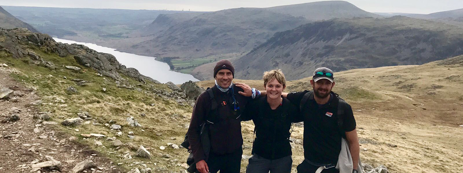 Chris, Nikki and Andy complete the three peaks challenge