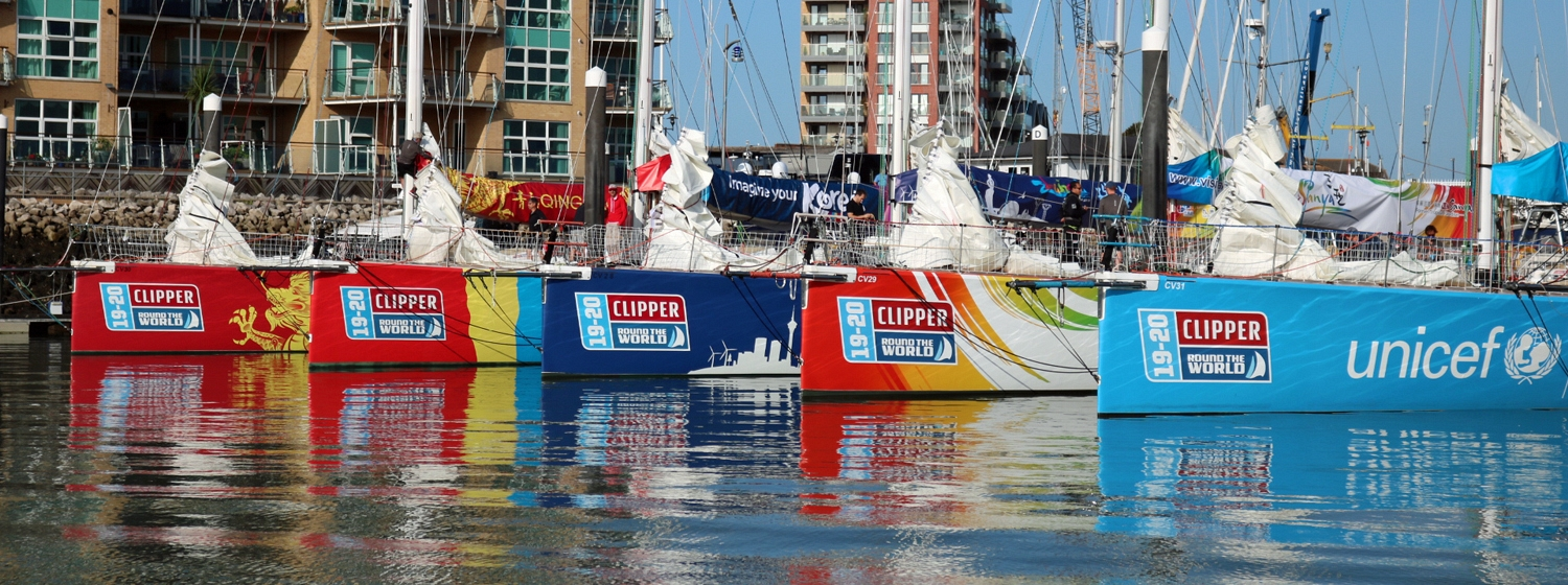 ​Departure Day - fleet leaves Clipper Race HQ for London