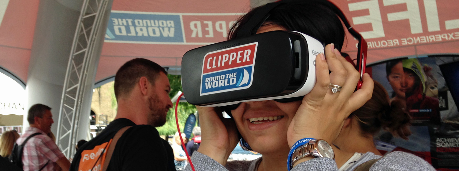 Virtual Reality at Race Finish