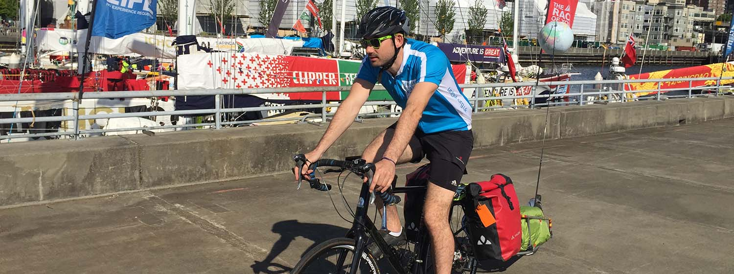 Simon starts cycle across USA on sail and pedal challenge