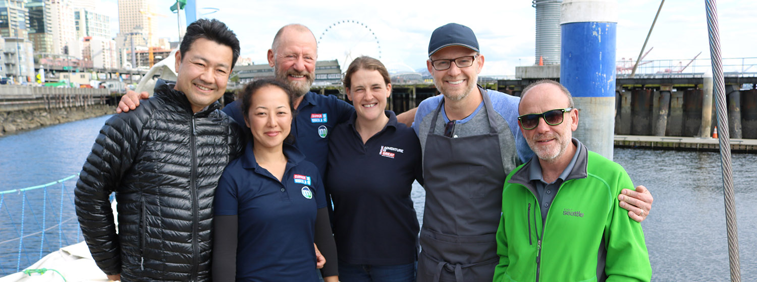 Seattle celebrity chef cooks for Clipper Race victuallers