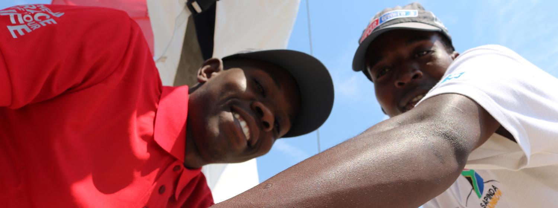 Siphamandla 'Superman' Ngcobo and Sakhile 'King' Makhanya