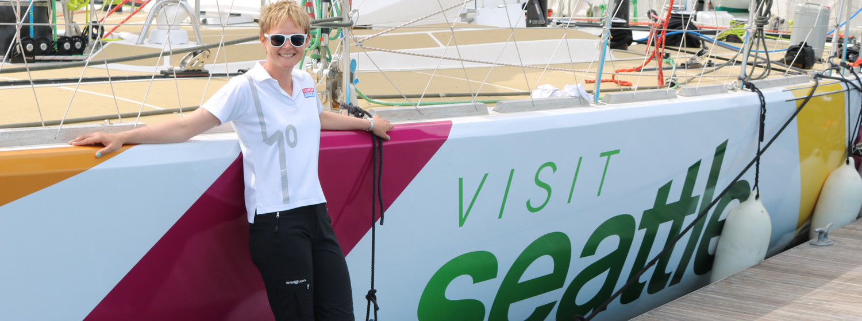 Skipper Nikki Henderson and the Visit Seattle yacht