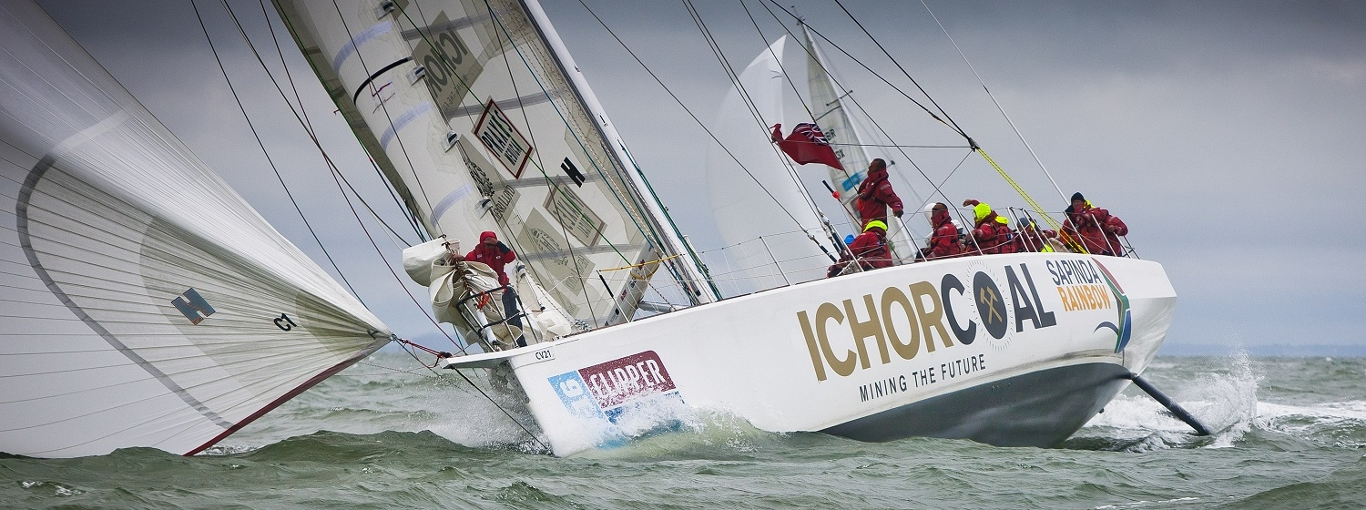 IchorCoal yacht pictured at race start